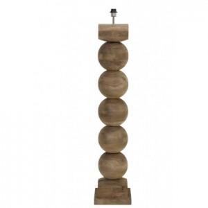 Lampenfuß-Stehleuchte Holz,  Stehlampe Holz, Höhe 133 cm