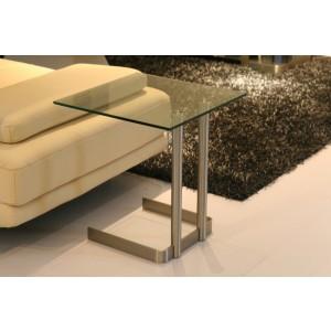 Beistelltisch Glas-Edelstahl, Beistelltisch Glasplatte Metallgestell
