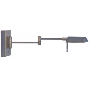 LED Wandleuchte mit Arm aus Metall, bronze kupfer, touch dimmer
