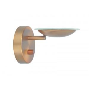 LED Wandleuchte aus Metall, bronze/ kupfer, dimmbar