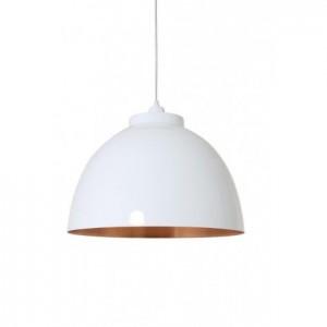 Pendelleuchte weiß-kupfer, Hängelampe weiß, Lampe weiß,  Ø 45 cm