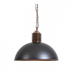 Pendelleuchte grau-kupfer, Hängelampe grau, Lampe grau,  Ø 72 cm