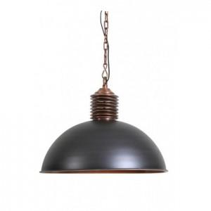 Pendelleuchte Kupfer Industrie, Hängeleuchte grau-Kupfer Metall Industrie, Durchmesser 40 cm
