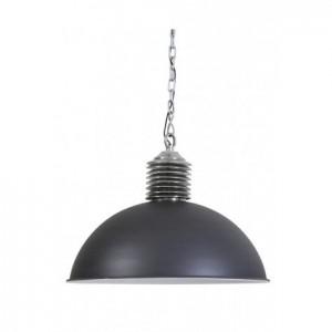 Pendelleuchte grau-silber, Hängelampe grau, Lampe grau,  Ø 52 cm