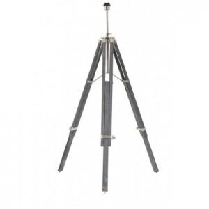 Lampenfuß grau für eine Stehlampe, Stehlampe grau-Chrome