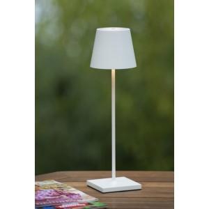LED Außenlampe weiß, LED Tischlampe weiß, Außen-Tischleuchte weiß, LED Tischleuchten weiß