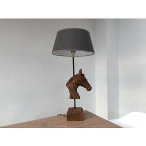 Tischleuchte Pferd mit Lampenschirm, Tischlampe mit Lampenschirm