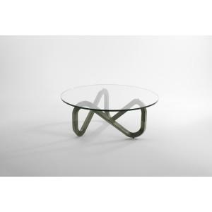 Couchtisch, Esstisch, Glas-Tischplatte, Durchmesser 99 cm