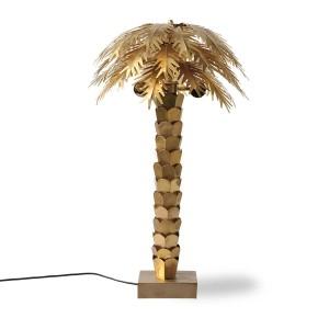 Tischlampe Palme Gold, Tischlampe Gold, Tischleuchte Gold,  Durchmesser 45 cm