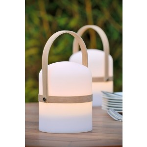 LED Außen-Tischlampe weiß,  LED Akkulampe weiß, LED Tischlampe weiß Akkubetrieb, Außen-Tischleuchte Akkubetrieb