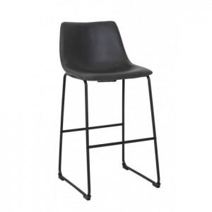 Barstuhl schwarz Metall, Barhocker schwarz Metall, Sitzhöhe 73 cm