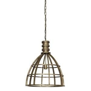 Pendelleuchte Bronze Metall Industriedesign, Hängeleuchte Gold Industrie Metall, Hängelampe Metall, Durchmesser 50 cm