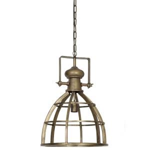 Pendelleuchte Bronze Metall Industriedesign, Hängeleuchte Gold Industrie Metall, Hängelampe Metall, Durchmesser 40 cm