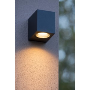 LED Außenwandleuchte schwarz, Wandleuchte schwarz,  LED Wand-Außenleuchte schwarz, Outdoor Wandlampe schwarz