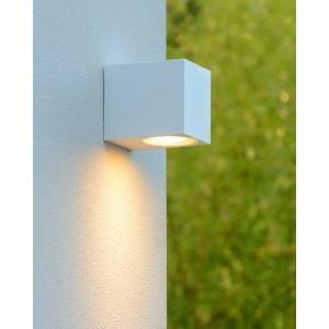 LED Außenwandleuchte weiß, Wandleuchte weiß,  LED Wand-Außenleuchte weiß, Outdoor Wandlampe weiß